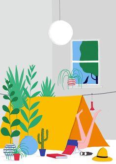 'Staycations' Print by Daniel Frost via @lookatthesegems #illustration
