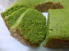 This cake has a subtle green tea flavor, and is one of my Moms favorite desserts.  Not overly sweet which is just fine for us!  I hope you will enjoy this Japanese treat!