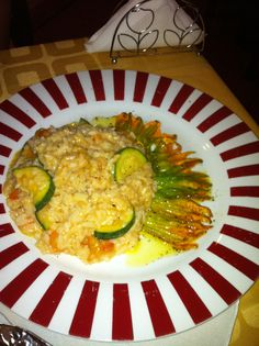 Squash flowers risotto    Note to Lorna - Create a similar recipe.