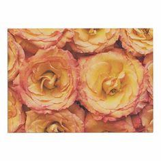 KESS InHouse Kristi Jackson 'Bed of Roses' Coral Pink Dog Place Mat, 13' x 18' >>> Check out this great image  (This is an amazon affiliate link. I may earn commission from it)