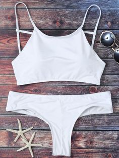 SHARE & Get it FREE | Mock Neck Spaghetti Strap Bikini Set - WhiteFor Fashion Lovers only:80,000+ Items • New Arrivals Daily Join Zaful: Get YOUR $50 NOW!