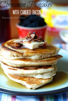 French Toast Pancakes. Lose the bacon (ok... eat it on the side) and just do the pancakes with REAL butter... they are amazing.