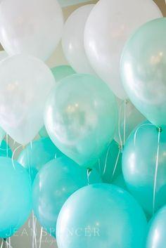 Tiffany Blue Ombre Balloons
