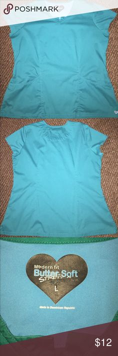Teal scrub top and pant set Used but in good condition Other