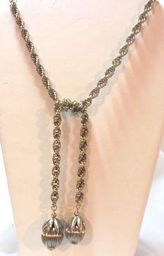 Cumquat Lariat Necklace Possibly Napier  Vintage #Unbranded #Lariat