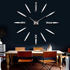 New Fashoin DIY Wall Clock 3D Mirrors Face Sticker Unique Watches On The Wall in Home, Furniture & DIY, Clocks, Wall Clocks | eBay: