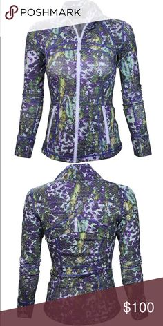 Lululemon define multi floral sport size 4 Almost new condition! Will accept $80 ️️! lululemon athletica Jackets & Coats