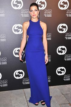 Charlotte Casiraghi in royal blue