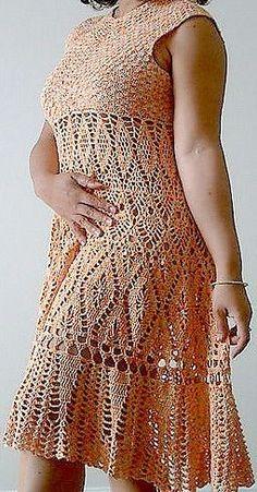 Crochet Dresses Knits Flowergirl Dress Crochet Smock Tops Knitting And Crocheting Tricot Dama Dresses Suits Knitwear Crochet Beach Dress, Crochet Skirts, Crochet Clothes, Crochet Lace, Dama Dresses, Nice Dresses, Vestidos Fashion, Vintage Dress Patterns, Lace Cardigan