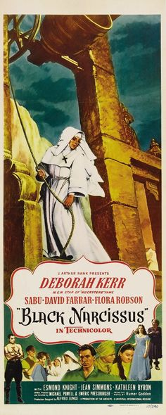 "Movie poster, ""Black Narcissus"" (1947), starring Deborah Kerr"