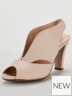 0b91443303 Carvela Comfort Arabella Leather Midi Heeled Sandal Shoes - Nude Pink