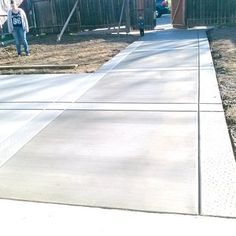 back driveway with salt finished borders | Yelp