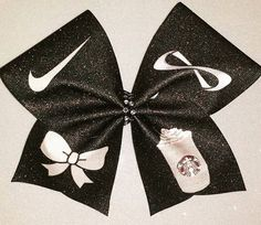 >>>Cheap Sale OFF! >>>Visit>> Cheer Bow-Nike Pros Nfinities bows and Starbucks by BOWcasions Cute Cheer Bows, Cheer Hair Bows, Cheer Mom, Big Bows, Cheerleading Bows, Cheer Stunts, Cheer Dance, Competitive Cheerleading, Cheerleader Gift