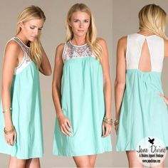 Call Me Maybe Mint Boho Spring Dress by Jane Divine Boutique www.janedivine.com