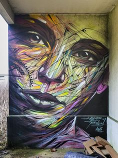 Beautiful street art, colorful street art.