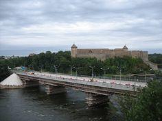 Narva Bridge from Estonia to ivangorod