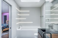 Linear And Recessed LED Lighting | Modern LED Lighting For The Bathroom | TruLine 1.6A  - by Pure Lighting
