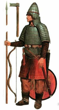 Ancient Magyar warrior from the Sargat culture (Western Siberia) 800BC-400AD
