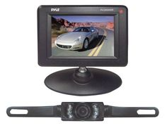 Pyle PLCM34WIR 3.5-Inch Monitor Wireless Back-Up Rearview and Night Vision Camera System by Pyle. $82.03. From the Manufacturer                      The PLCM22IR fits easily on your license plate and features the latest in backup camera technology      Click here for a larger image      Comes with dual RCA video input cable and car power adapters      Monitor displays distance scale lines, so you know exactly where you're going  Wireless Backup Camera System Th...