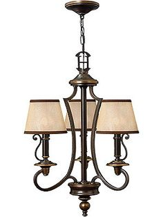 Plymouth 3 Light Chandelier In Olde Bronze Finish   House of Antique Hardware