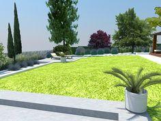 #dibuix en #3D del #disseny d'un #jardí comunitari a base de reduir #gespa i manteniment. www.tallerdepaisatge.com