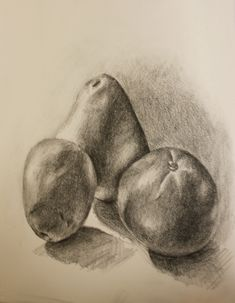 Still Life Drawing Of Fruits