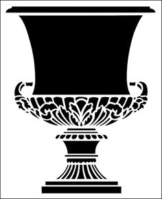 Urn No 3 stencil from The Stencil Library ARCHITECTURE range. Buy stencils online. Stencil code AR67.