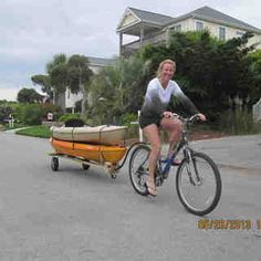 Bike Kayak Trailer I dunno that i would ever build this, but it is a great idea