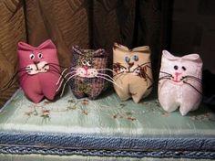 Gatitos de tela - Patrones gratis