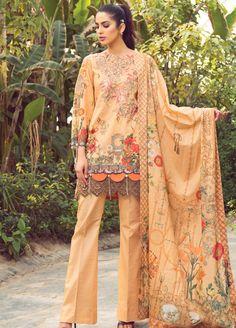 Florence Egyptian Voile Dupatta 2019 Collection by Rang Rasiya Dress Neck Designs, Kurti Neck Designs, Stylish Dress Designs, Designs For Dresses, Pakistani Fashion Casual, Pakistani Dresses Casual, Pakistani Dress Design, Pakistani Clothing, Indian Dresses