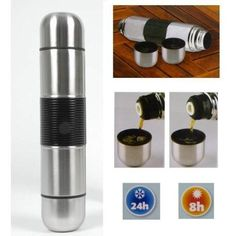 2 Sided Stainless Steel Thermos Vacuum Flask