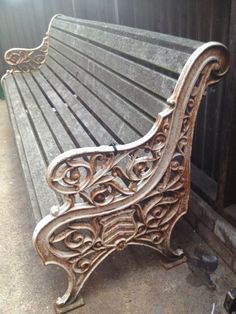 Victorian Kramer Bros Cast Iron Garden Bench By Ebay Seller