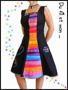 Du fil et mon...: Ma première robe