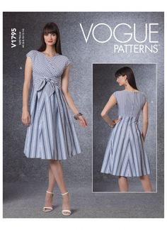 Sewing Blogs, Sewing Ideas, Vogue Sewing Patterns, Miss Dress, Straight Skirt, Dress Patterns, Pleated Skirt, Dresses With Sleeves, Fitted Dresses