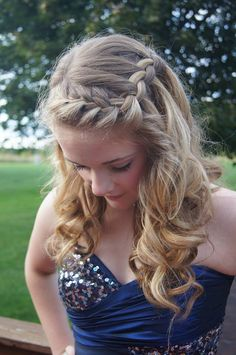 Homecoming or prom hair