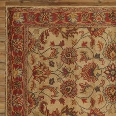 Found it at Joss & Main - Audrey Brick Floral Wool Hand-Tufted Area Rug