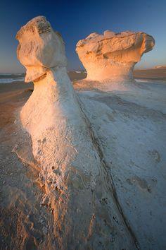 White Desert, Egypt.    White Desert, Egypt.