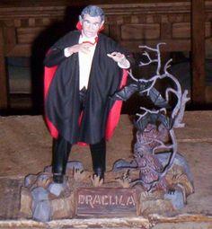 Dracula Rare Monster Model Kit Built Up Monogram Aurora