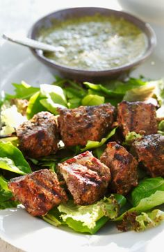 Grilled Chimichurri Beef Kabobs  A quick and easy marinade