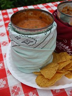 Camping dip!!!  Yup, a way to bring some great dip with you camping! #Camping #Outdoor #Food