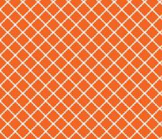 Auburn_Orange_Trellis custom fabric by rick_rack_scissors_studio for sale on Spoonflower