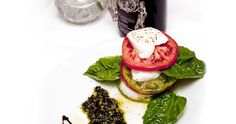 Caprese at Asti Ristorante, located in the Gaslamp District in downtown San Diego, CA.
