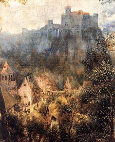 """Pieter Bruegel the Elder """"Magpie on the Gallow (detail)""""(1568)"""