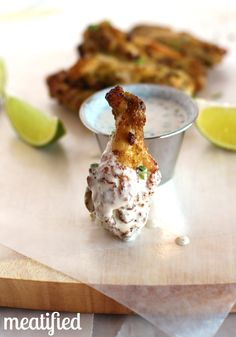 Jalapeño-Lime Chicken Wings - Meatified | stupideasypaleo.com #paleo #whole30