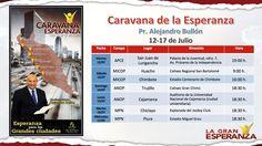 Ruta de la Caravana de la Esperanza. Comparte ahora en las redes sociales.