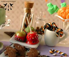 Mini candy apples and other goodies