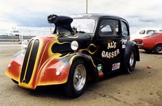 Al's Gasser seen in it's later guise, still looking good after all these years, I do believe he even took it to America....