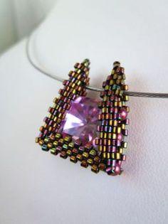 Téléchargement immédiat - Trapezino - pendentif échangeables - lunette - perles motif - dimensions Peyote