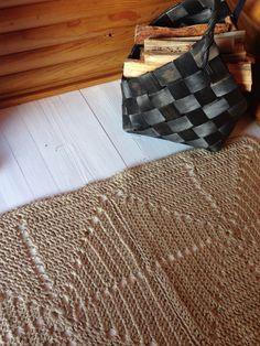 Virkattu matto juutti