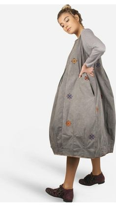 "</span></p> <p style=""font-size: 12.16px;""><span style=""font-size: 8pt; font-family: arial, helvetica, sans-serif;"">The heavy washed out cotton, with funky embroidery makes all the difference in this balloon shaped dress. </span></p> <p style=""font-size: 12.16px;""><span style=""font-size: 8pt; font-family: arial, helvetica, sans-serif;"">Ideal to go out in the city, wi..."